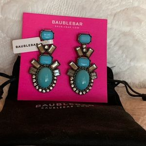NEW! BaubleBar turquoise blue statement earrings